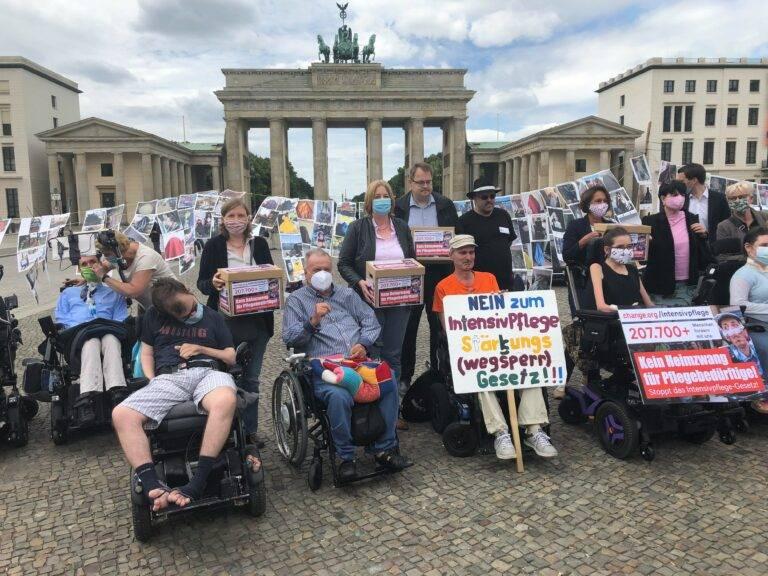 Intensivpatienten auf einer Demo in Berlin